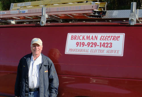 Don Brickman and fully equipped service van